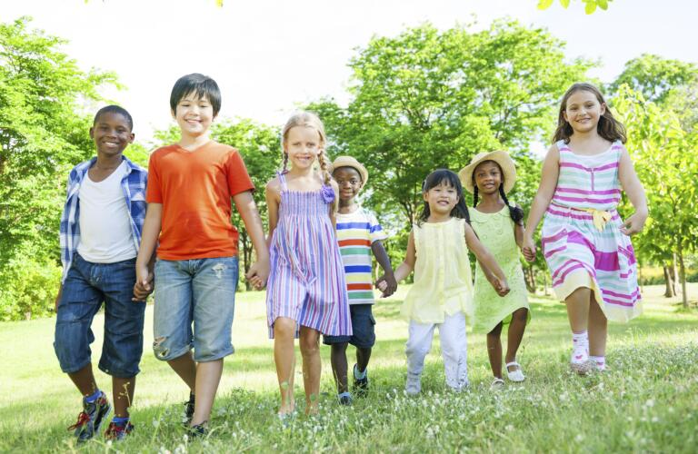 Group of Diverse Children in the Park
